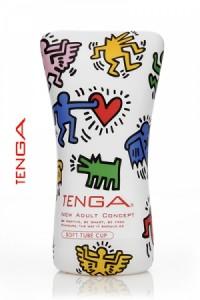 Tenga Soft Tube masturbation by Keith Haring