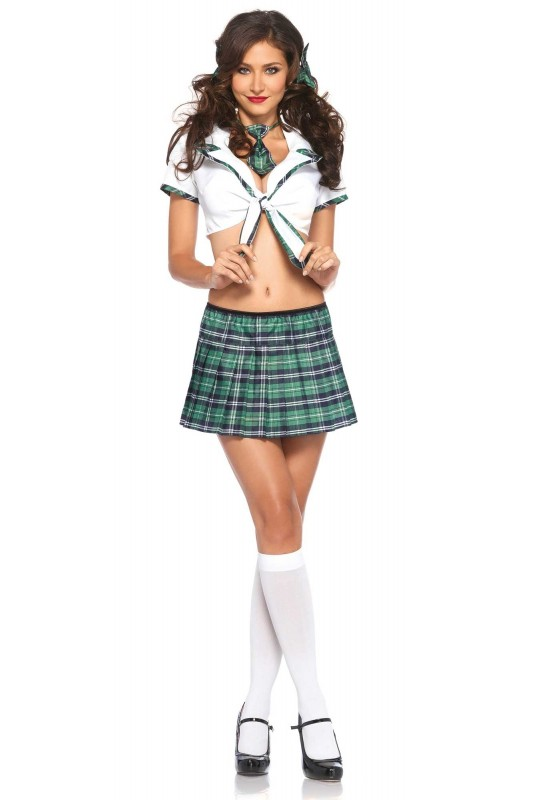 Costume de jupe d'écolière