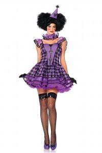Costume Femme Clown Noir et Violet
