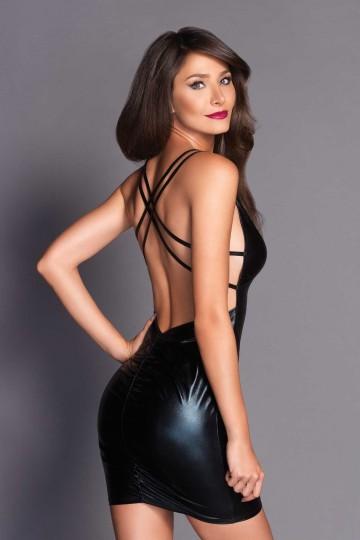 Robe Soirée Noire Brigitte Leg Avenue
