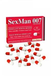 Aphrodisiaque SexMan 007 (20 gélules)