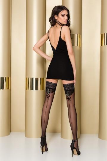 Bas Couture Autofixants Ultra Chic Noir Passion ST103
