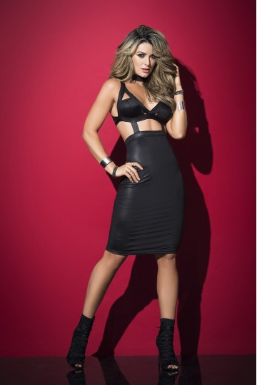Robe ClubWear Effet Top et Jupe Sexy