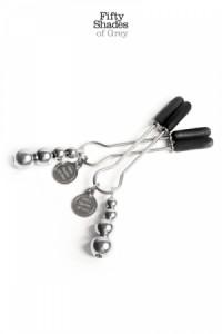 Bijoux Pinces Seins Réglables - 50 Nuances de Grey - Fifty Shades of Grey