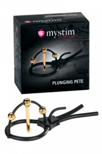 Cage Gland et Sonde Urètre Electro Stimulation Pete Corona Strap by Mystim