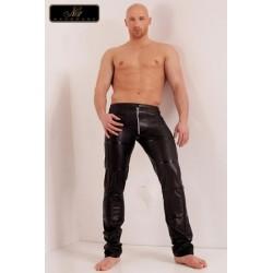 Pantalon Fetish Homme Zippé Groove Noir Handmade