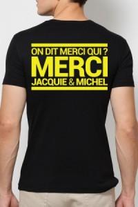 T Shirt Homme Jacquie et Michel Jaune Fluo