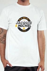T Shirt Officiel Jacquie et Michel Blanc et Jaune
