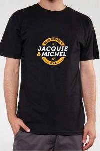 T Shirt Officiel Jacquie et Michel Noir et Jaune