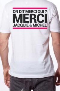 T Shirt Officiel Jacquie et Michel Blanc