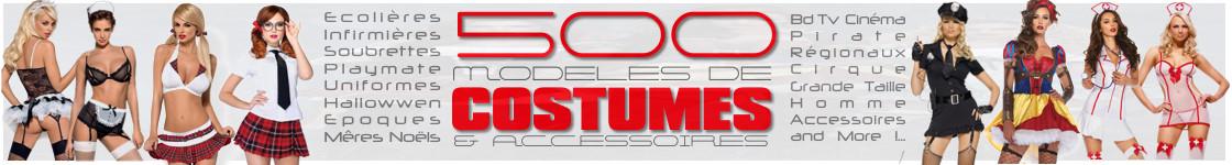 Découvrez plus de 500 Costumes et Déguisements Sexy et Coquins !