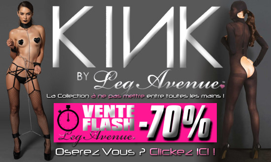 Jusqu'à -70% sur la Collection Fetish Kink Leg Avenue !