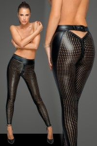 Leggings wetlook ajouré F233