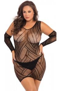 Robe Lingerie Sexy Mitaines Grande Taille René Rofé