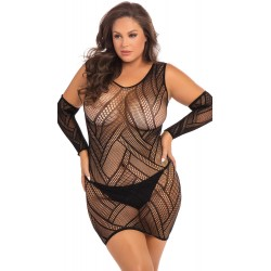 Robe Lingerie Sexy Mitaines Grande Taille