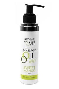 Huile de Massage Comestible Mangue 100ml Sezmar