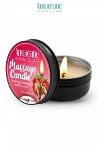 Bougie de Massage Vin Pétillant à la Fraise Amoreane Med