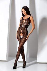 Combi Bodystocking Ouverte Trou de Serrures Noir Passion lingerie