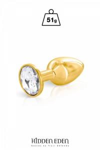 Plug Anal Bijou Aluminium Gold Taille S Hidden Eden