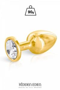 Plug Anal Bijou Aluminium Gold Taille M Hidden Eden
