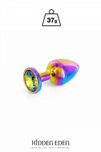 Plug Anal Bijou Aluminium Rainbow Taille XS Hidden Eden