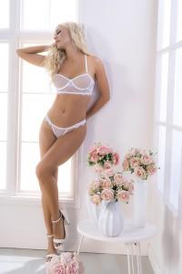 Ensemble Sexy Chic Mariage Blanc 2 Pièces Mapalé