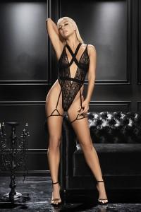 Body Sexy Chic Echancré Jarretelles Mapalé