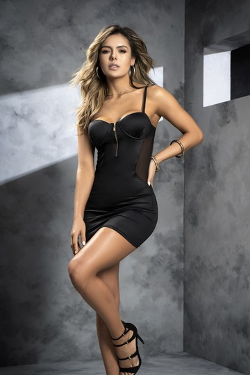 Robe Club Cocktail Sexy Chic Noire