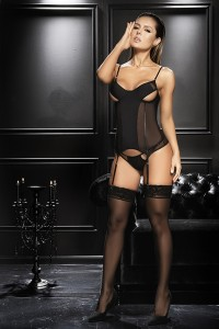 Guêpière Sexy Chic Noirs String Mapalé