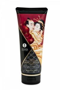 Crème Massage Délectable Vin Pétillant à la Fraise Shunga