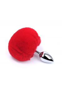 Plug Anal Alu Pompon Rouge Taille S Dreamy Toys