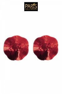 Nipples Cache Tétons Sequin Rouge Paris Hollywood