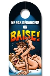 Affiche Pancarte de Porte Sexe Ne Pas Déranger On baise