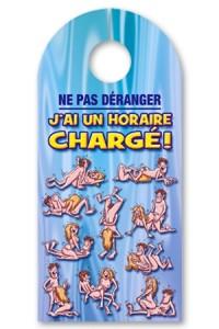 Affiche Pancarte de Porte Sexe Horaire chargé