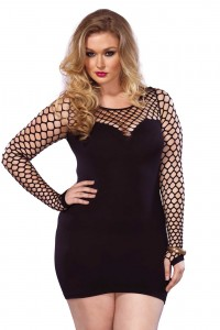Robe Sexy Grande Taille Filet 2 Tons Leg Avenue