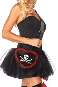 Sac Coeur Bandoulière pour Costume et Déguisement de Pirate