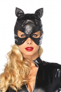 Masque CatWoman Simili Cuir Leg Avenue