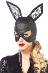 Masque Lapin Simili Cuir