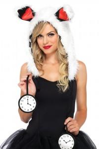 Bonnet Lapin blanc Peluch Horloges.