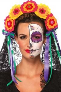 Couronne de Fleurs et Dentelle Jour des Morts Mexicain Leg Avenue