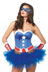 Kit Costume Femme Sexy Captain America Leg Avenue