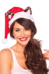 Bonnet de Noël Oreilles Chat