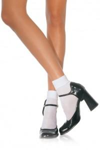 Soquettes Blanches Classiques Blanches Leg Avenue