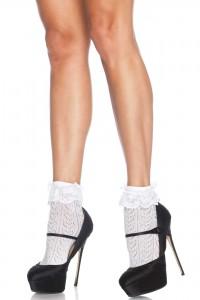 Soquettes Crochet Motif Coeurs