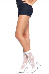 Chaussettes Blanches Florales
