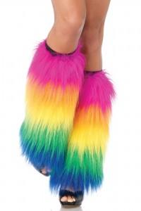 Jambières Multicolores Cyber Goth Rave Fluffies Yéti