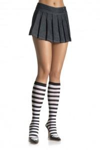 Chaussettes Sexy Hautes Zébrées