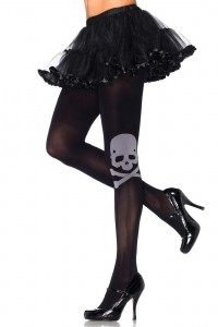 "Collant Opaque ""Tête de Mort"" Pirate Leg Avenue"