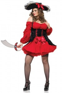 Costume Robe Pirate Sexy Rackham le Rouge Grande Taille Leg Avenue