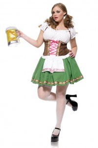Costume Serveuse Autrichienne Sexy Grande Taille